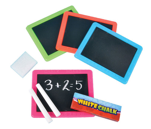 Neon Chalkboard Set - 12 Assorted Color School Supplies