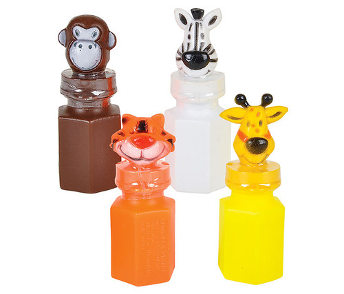 Zoo Animal Jungle Characters Bubble Bottles 24 Pack Toys and games