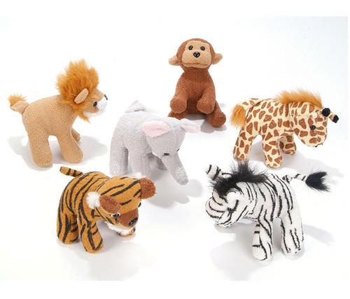5-Inch Zoo Animal Plush 12 Pack Animal Plush