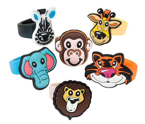1-inch Assorted Animal Rings 24-pack Animal Rings