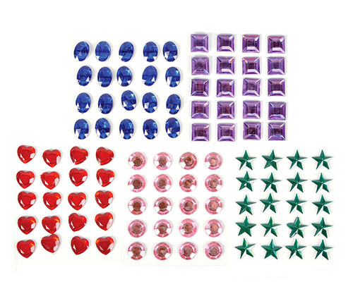 500 Assorted Self-Adhesive Jewels pack Self-Adhesive Jewels