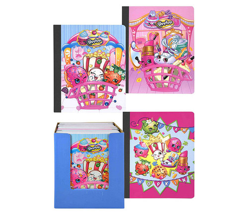 Shopkins Assorted Spiral Books 4pc Set Notebooks