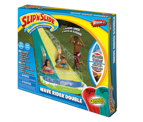 Slip N Slide Wave Rider Double with 2 Slide Boogies Outdoor Games