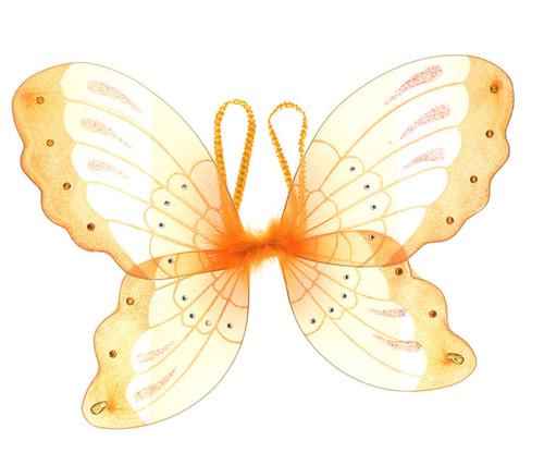 Orange Glitter Children Butterfly Wings Costume Accessory