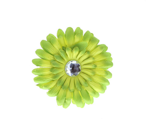 Green Ombre Rhinestone Daisy Flower Hairclip Hair Accessory