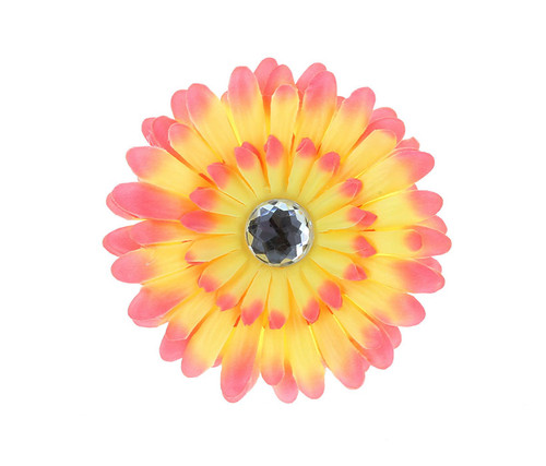 Pink Ombre Rhinestone Daisy Flower Hairclip Hair Accessory