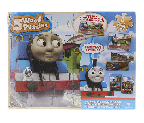 Thomas and Friends 5pc Puzzles  Children's Wood Playset