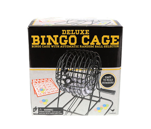 Deluxe Bingo in Cage in Box Family Game Set