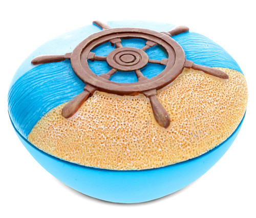 Jewelry Box Blue Ship Wheel