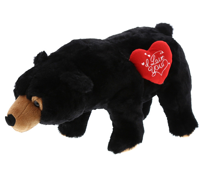 Dollibu Wild Large Black Bear I Love You Valentines Plush Super Soft