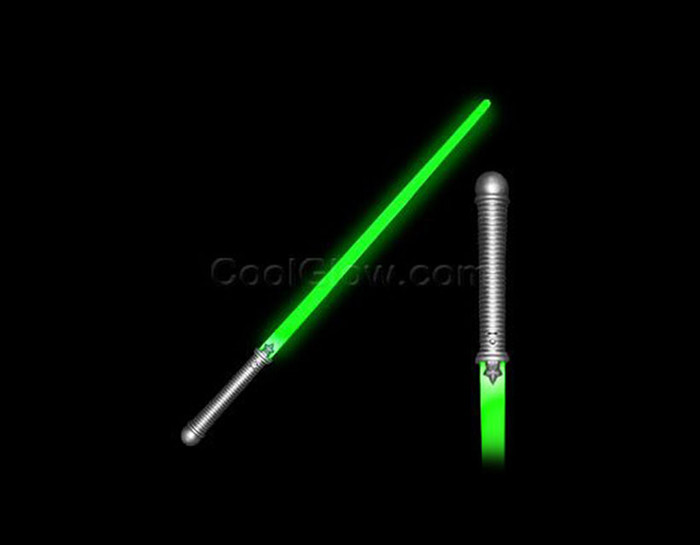 Green LED Light Saber Pretend Play Toy