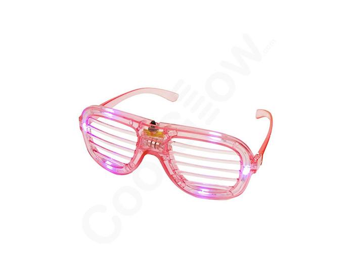 Pink LED Slotted Glasses Novelty Light Up Toy