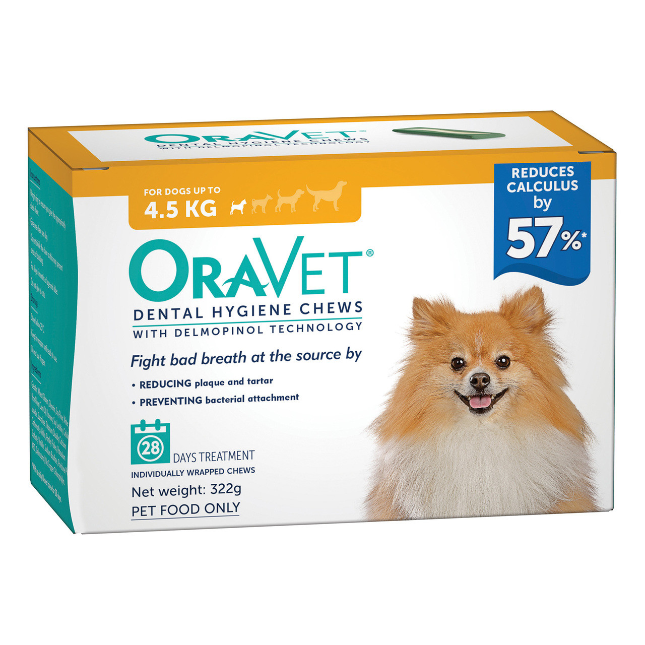 Oravet Dental Hygiene Chews for Extra Small Dogs (<4 5kg) (28)