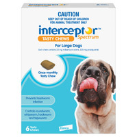 Interceptor Spectrum Tasty Chews For Large Dogs (22-45kg) Blue 6's