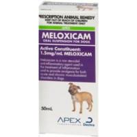 Meloxicam Dog Suspension 50mL (Apex brand)