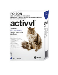 Activyl for Cats over 4kg Dark Blue 6's