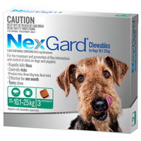 NexGard 3-Pack for Dogs 10.1 - 25kg