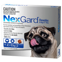 NexGard 3-Pack for Dogs 4.1 - 10kg