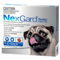 NexGard 6-Pack for Dogs 4.1 - 10kg