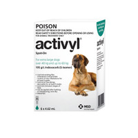Activyl for Extra Large Dogs 40-60kg Green 6's