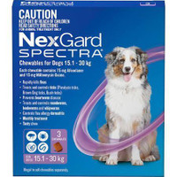 NexGard Spectra 3-Pack for Dogs 15.1-30KG