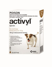 Activyl for Small Dogs 6.6-10kg Brown 6's