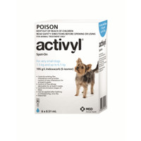 Activyl for Very Small Dogs 1.5-6.5kg Light Blue 6's