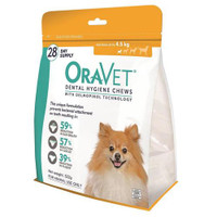Oravet Dental Hygiene Chews for Extra Small Dogs (<4.5kg) (28)