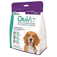 Oravet Dental Hygiene Chews for Medium Dogs (11-23kg) (28)