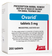 Ovarid 5mg Megestrol acetate 5mg Jurox