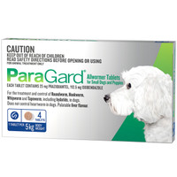 Paragard 4-Pack for Small Dogs and Puppies up to 5kg