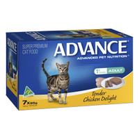 Advance Cat Adult Tender Chicken Delight 85g x 7