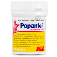 Popantel Allwormer Tablets For Cats 50's