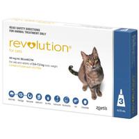 Revolution Cat 2.6-7.5kg Blue 45mg 3's