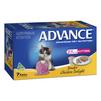 Advance Cat Kitten Tender Chicken Delight 85g x 7