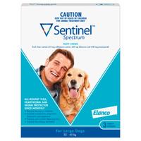 Sentinel Spectrum Tasty Chews for Large Dogs (22-45kg) Blue 3's