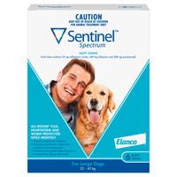 Sentinel Spectrum Tasty Chews for Large Dogs (22-45kg) Blue 6's