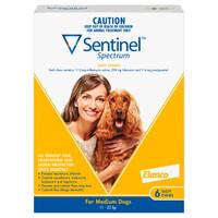 Sentinel Spectrum Tasty Chews for Medium Dogs (11-22kg) Yellow 6's