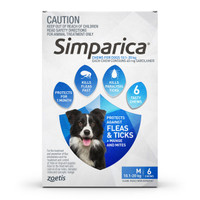 SIMPARICA Chews for Medium Dogs 10.1 - 20 kg (Blue) - 6 pack