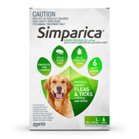 SIMPARICA Chews for Large Dogs 20.1 - 40 kg (Green) - 6 pack