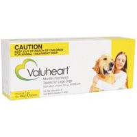 Valuheart Heartworm Tablets for Dogs Large Dog (21-40kg) 6's