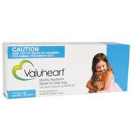 Valuheart Heartworm Tablets for Dogs Small Dog (up to 10kg) 6's