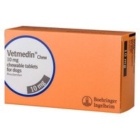 Vetmedin 10mg chewable tablets for dogs Pimobendan