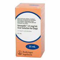 Vetmedin Oral Liquid 21mL 3.5mg/mL Pimobendan for dogs