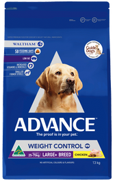 Advance Dog Dry Weight Control Large Breed Chicken 13kg