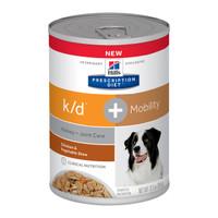 Hills Prescription Diet Canine Kidney + Joint Care K/D + Mobility 354G X 12