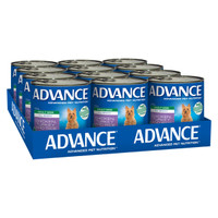 Advance Dog Wet Adult All Breed Chicken, Turkey & Rice 700g x 12
