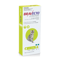 Bravecto Spot On for Cats Green 1.2-2.8kg (2 pack)