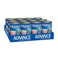 Advance Dog Wet All Breed Chicken, Salmon & Rice 410g x 12