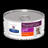 Hills Prescription Diet Feline Thyroid Care Y/D 156g x 24